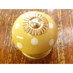 Porcelain knobs pitch yellow poussin