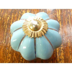 China buttons blue gold band