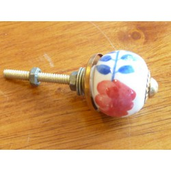 Mini knobs flower red/dark-blue