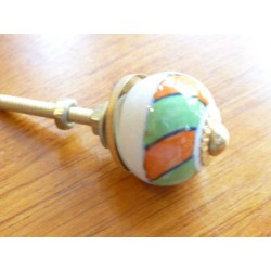 Mini knobs green and orange