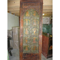 Hand painted glass door