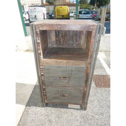 head bed hight industrial 2 drawers