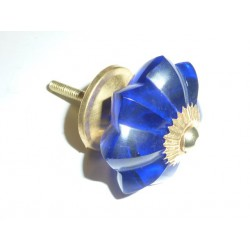 bouton citrouille 45 mm outremer