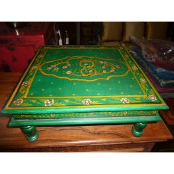 Table with cushion bazot 38x38cm green