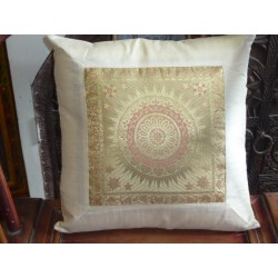 Cushion cover 40X40 taffetas white soleil