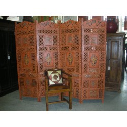 Screen painted relief (orange - flower)