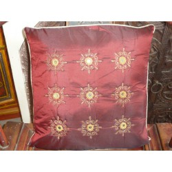 Cushion cover 40X40 arabesques miroirs Bordeau