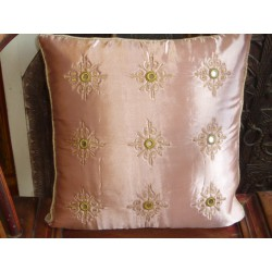 Cushion cover 40X40 arabesques miroirs Rose poudré