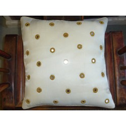 Cushion cover 40X40 Rond miroirs white
