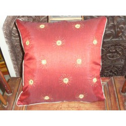 Cushion cover 40X40 soleil miroirs bordeaux