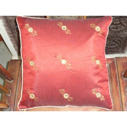 Cushion cover 40X40 aillettes miroirs bordeaux