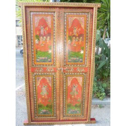 Indian Door handmade Radha et Krishna
