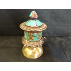 moulin inlaid red and turquoise