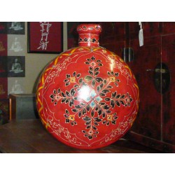 water jar hand painting a flowers round XL