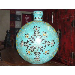 water jar hand painting turquoise XL