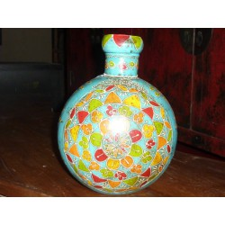 water jar hand painting a flowers round (PM)