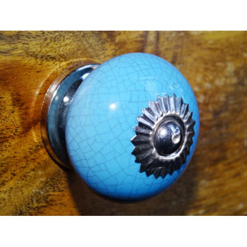 Handle blue round cracked effect