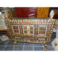 Big damchaya dowry chest with mirrors.