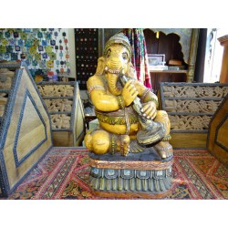 Ganesh playing the trumpet