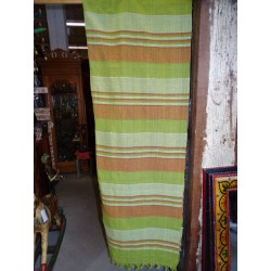 Bedspread kerala green and taupe