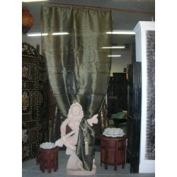 Organza curtains gray