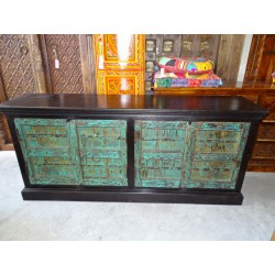 Sideboard green doors dark patina
