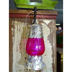Table lantern candle pink