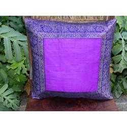cushion cover 40x40 Purple border brocade