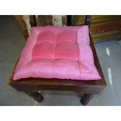 chair cushions pink brocade edges