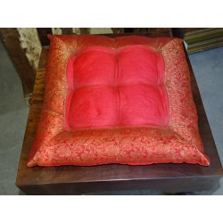chair cushions red brocade edges