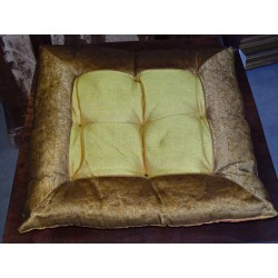 chair cushions golden brocade edges