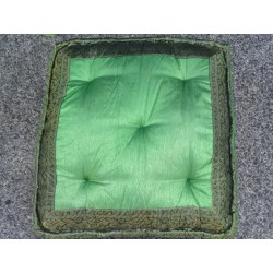 Cushion of Floor dark green brocade edges