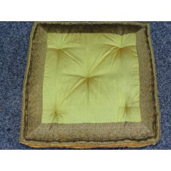 Cushion of Floor golden brocade edges
