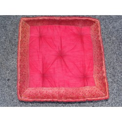 Cushion of Floor red brocade edges