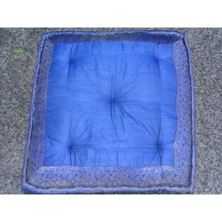 Cushion of Floor Blue brocade edges