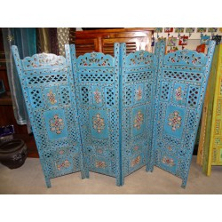 screen/head bed (relief, flower, turquoise)