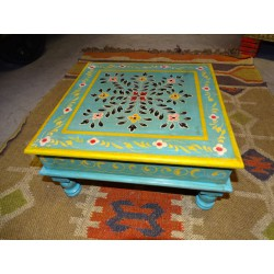 Table with cushion bazot 38x38cm blue