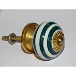 Emerald green spiral cabinet handle