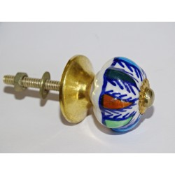 Small handles porcelain pumpkin multicolor