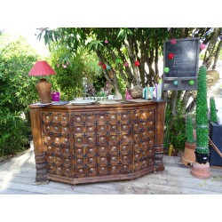 Recycled teak bar counter JALI