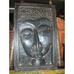 carved panel buddha
