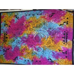 Cotton wall hanging or bedspread with KHAMSA hand