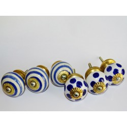 Set of 6 porcelain buttons - Lot 6