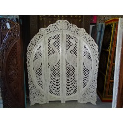Screen rond peacock white distress