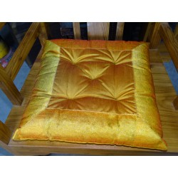 Chair cushion edges in brocade orange 38x38 cm