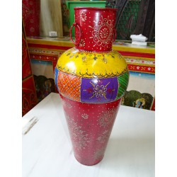 Indian jar shaped multicolored amphora 61 cm - 2