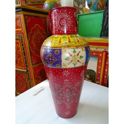 Indian jar shaped multicolored amphora 61 cm - 8