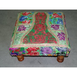 Low stool 40X40x25 cm covered with patchwork - 22