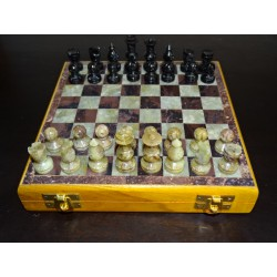 Chess sets 13 x 13 cm with storage drawer