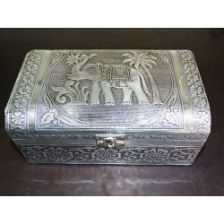 big boxe with jewelry with miror blue